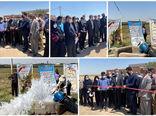 بهره برداری از طرح آبیاری کم فشار در روستای خاصبان شهرستان اسکو با 5.5 کیلومتر لوله گذاری