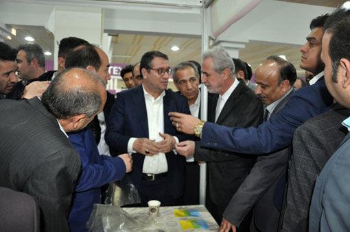 بازدید وزیر صمت و نایب رئیس مجلس شورای اسلامی از زون کشاورزی زیستی در هفتمین نمایشگاه ربع رشیدی