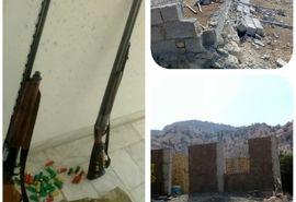 قلع و قمع ساخت و سازهای غیر مجاز در منطقه ارژن و پریشان