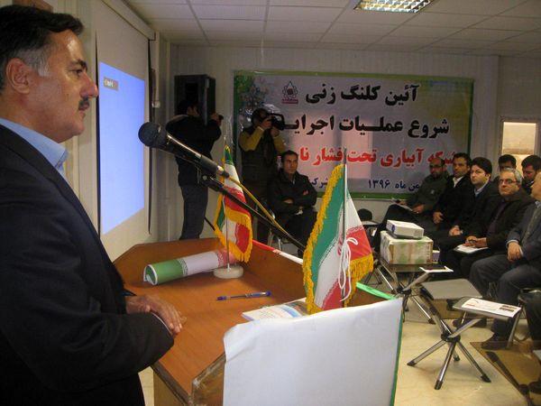 کلنگزنی عملیات 3700 هکتاری احداث شبکه آبیاری تحت فشار در استان اردبیل