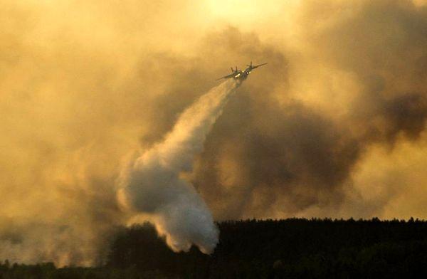 خدمات هواپیمایی ویژه آتش تالاب میقان را مهار کرد