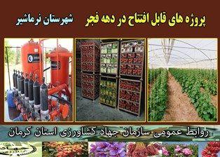 بهرهبرداری از 12 طرح کشاورزی و آب و خاک در شهرستان نرماشیر