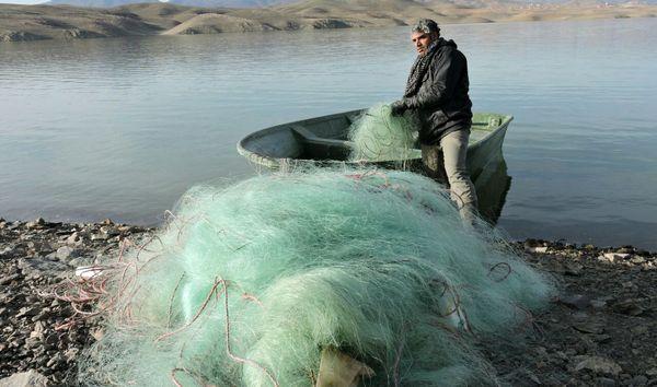 کشف 800متر تور ماهیگیری از متخلفان در کرمانشاه