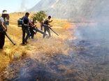 بیش از ۱۰۰ هکتار از پس چرای مزارع کشاورزان روستای شیخمکان طعمه حریق شد