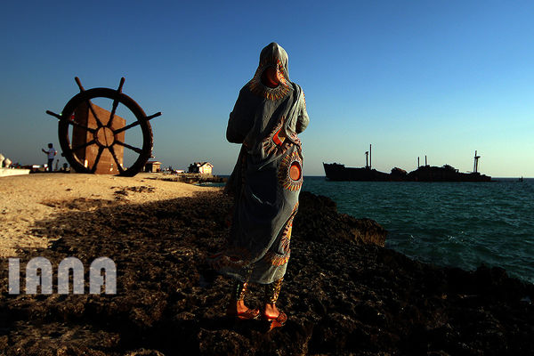 کشتی یونانی در جزیره قشم