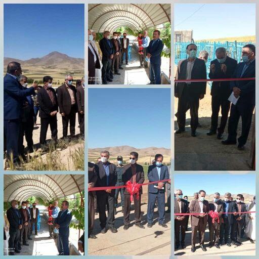 افتتاح 9طرح بخش کشاورزی شهرستان دهگلان با حضور معاون استاندار کردستان