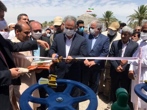 وزیر جهاد کشاورزی 1300هکتار سامانه نوین آبیاری در دلگان را افتتاح کرد