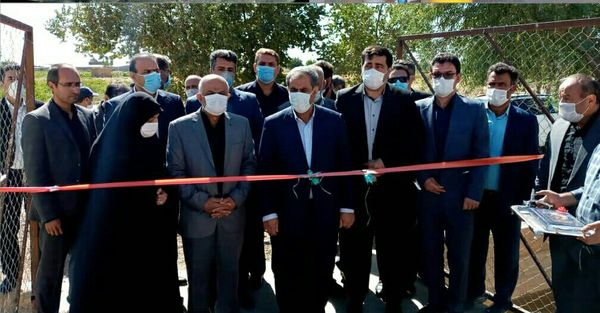 یک طرح آبیاری تحت فشار در شهرستان تاکستان افتتاح شد