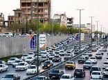 آزادراه تهران-کرج پر ترافیک است