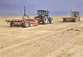 تسطیح لیزری اراضی کشاورزی درسربیشه