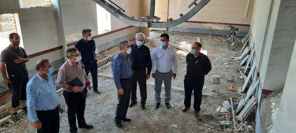 بازدید سرزده مدیر کل دامپزشکی خوزستان از مجتمع کشتارگاهی در حال ساخت ملاثانی