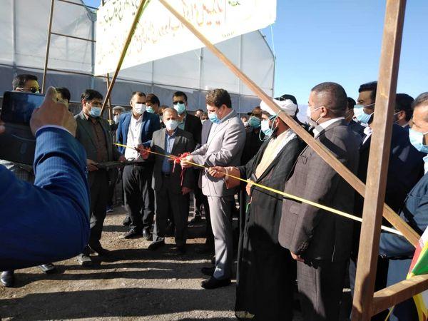 افتتاح یک طرح گلخانه هیدروپونیک در مجتمع گلخانه ای روداب توسط استاندار کرمان