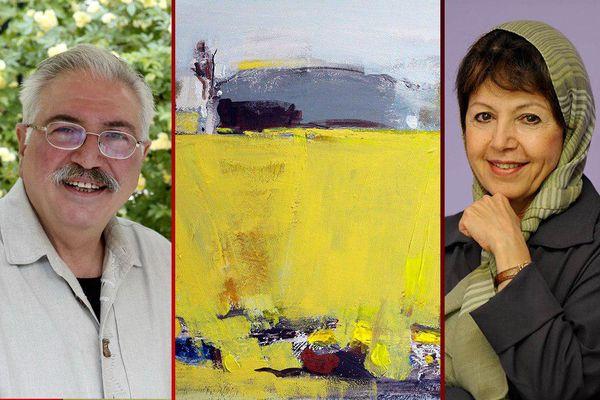 خرید تابلوی هنرمند ایرانی توسط یکی از مدیران کمپانی فورد