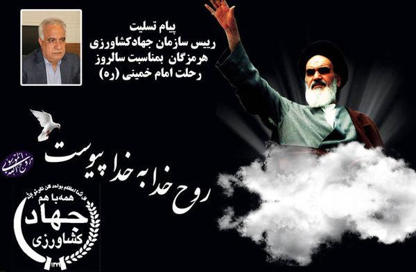 پیام رییس سازمان جهادکشاورزی هرمزگان بمناسبت ارتحال ملکوتی حضرت امام خمینی(ره)