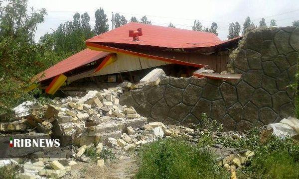 تخریب یک باب خانه باغ