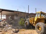 قلع و قمع ۵ مورد ساخت و ساز غیر مجاز در اراضی کشاورزی بویین زهرا
