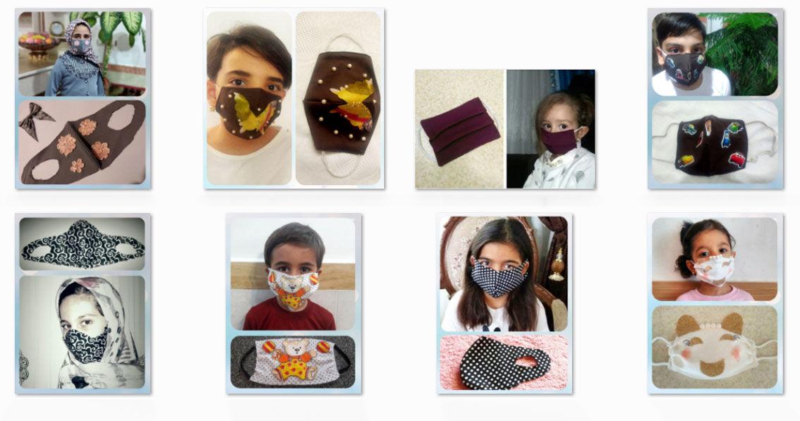 کودکان روستای قاضی جهان در چالش ساخت خانگی ماسک شرکت نمودند