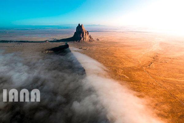مه صبحگاهی در نیومکزیکو