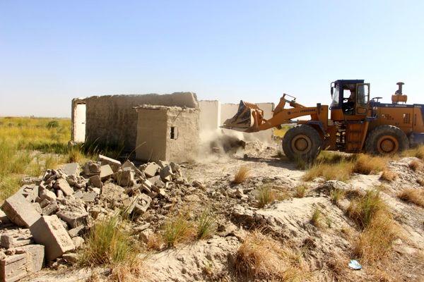 تخریب 4 مورد ساخت و ساز غیر مجاز در اراضی کشاورزی سیستان و بلوچستان