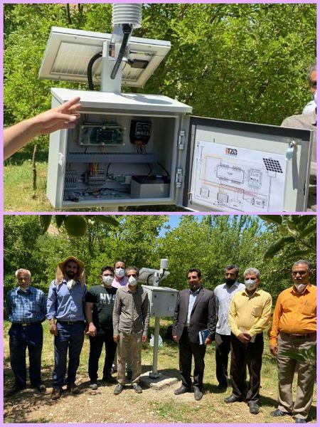 """اولین سیستم جامع هواشناسی کشاورزی """"دیتا لاگر ها"""" در شهرستان بروجرد راهاندازی شد"""