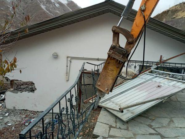 تخریب سه بنای غیرمجاز در شمیرانات