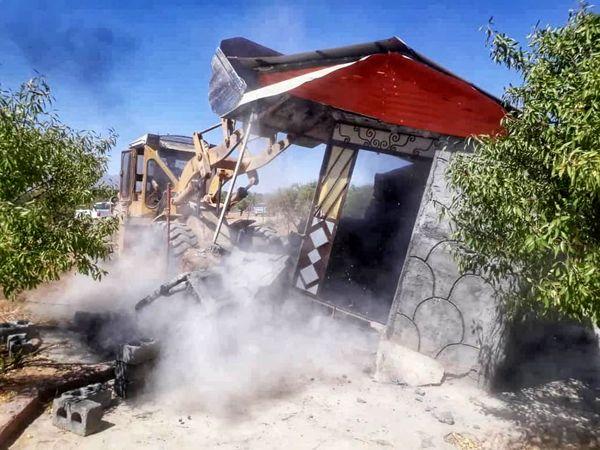 40 مورد ساخت و ساز غیرمجاز در اراضی کشاورزی سامان قلع و قمع شد