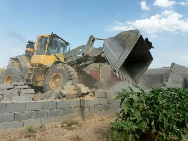۱۲ هزار مترمربع زمین کشاورزی در اردستان آزادسازی شد