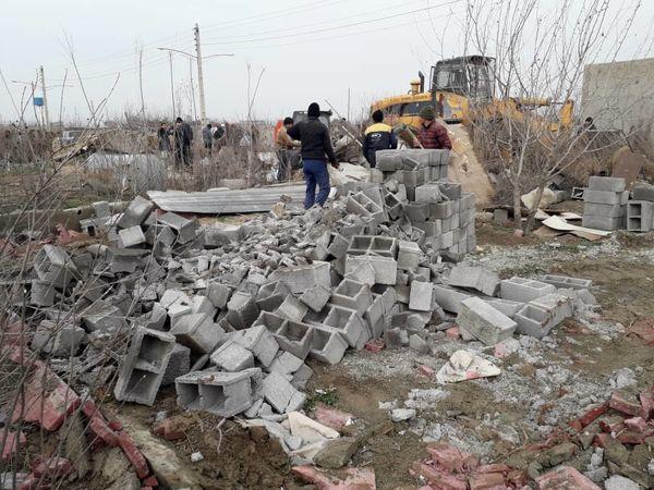 آزاد سازی 2 هکتار از اراضی کشاورزی شهرستان تهران از دست متصرفان
