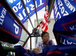 دوخت پرچمها تبلیغاتی ترامپ در چین